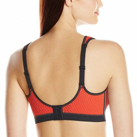 Back view of Anita Air Control Sports Bra 5533 in Spicy Orange at Belle Lacet Lingerie