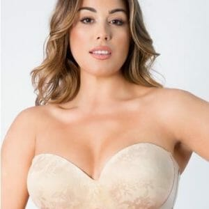 Curvy Couture Strapless Sensation Multi-Way Push-Up bra 1073