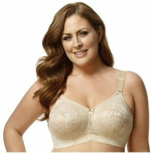 Elila Embroidered Microfiber Soft-Cup Bra 1301