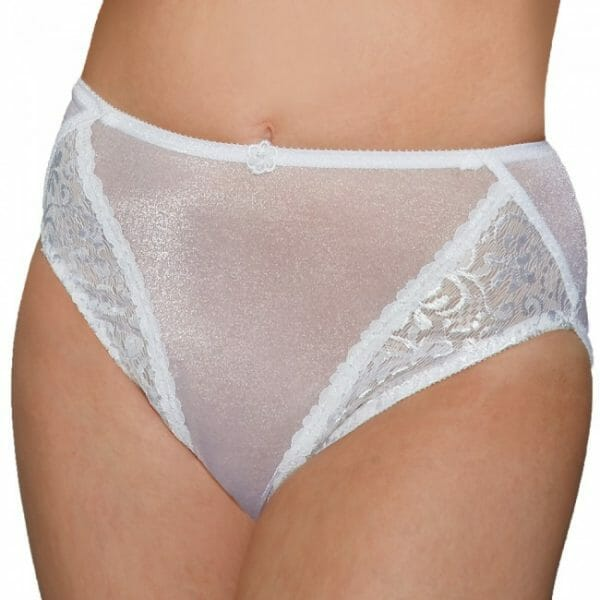 Carnival Glistenette Center Tuxedo Lace Hi-Cut Bikini Panty 3057