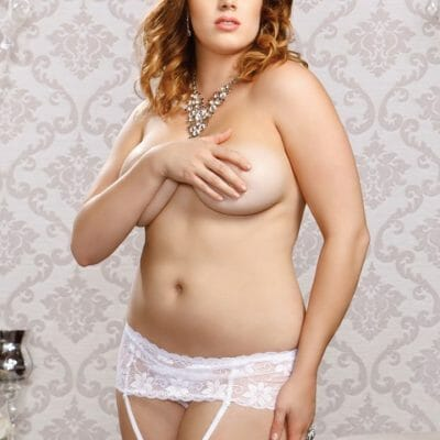 iCollection Lace Garter Belt 7387X