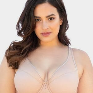 Curvy Couture High Apex Diamond Net Plunge Bra 1336E