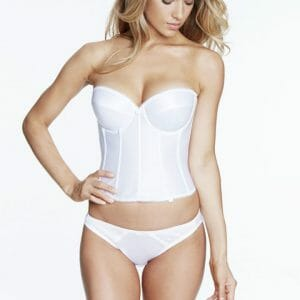 Dominique Rachelle Satin Longline Bridal Bra