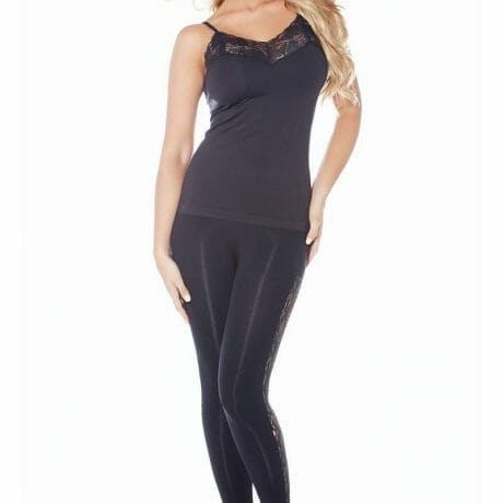 Rhonda Shear Delicate Div-Ahh Seamless Camisole with Lace 1590