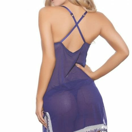 Popsi In Your Dreams Blue Chemise with Matching Panty 8469 at Belle Lacet Lingerie, Chandler