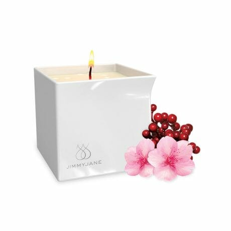 JimmyJane Afterglow Candle (Berry Blossom) at Belle Lacet Lingerie in Chandler-Phoenix.