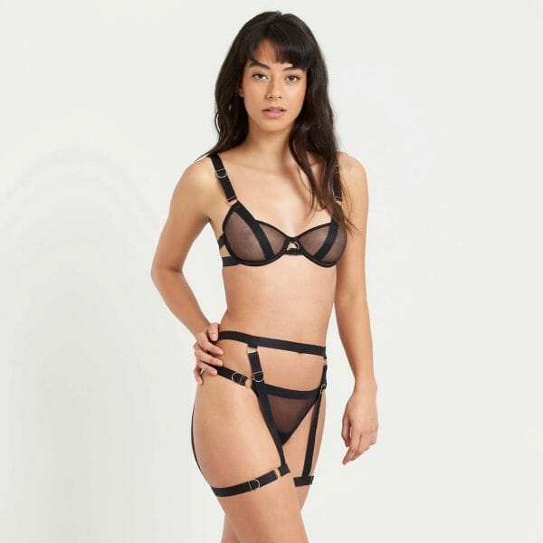 Full frontal view of the Thea Bra set by Bluebella at Belle Lacet Lingerie.