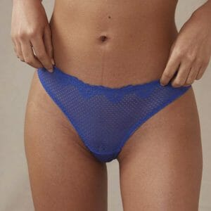 ALICE Thong in Electric Blue at Belle Lacet Lingerie