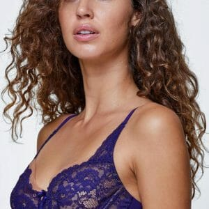 Skarlett Blue Minx Lace Balconette Bra in Cachmere at Belle Lacet Lingerie.