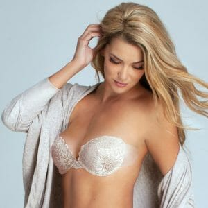 Lace Ultimate Boost Strapless Bra at Belle Lacet Lingerie.